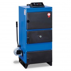 Котел UNMAK UKY/3K-25 кВт стальной жаротрубный твердотопливный